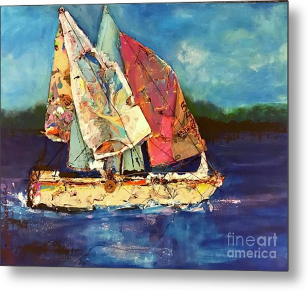 Sails Away Metal Print