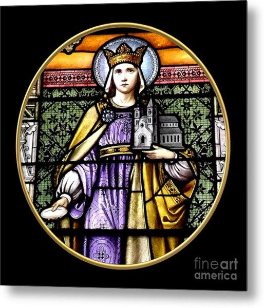 Metal Print featuring the photograph Saint Adelaide Stained Glass Window In The Round by Rose Santuci-Sofranko