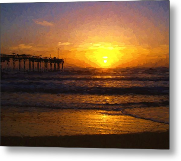 Saint Augustine Beach Sunrise Metal Print