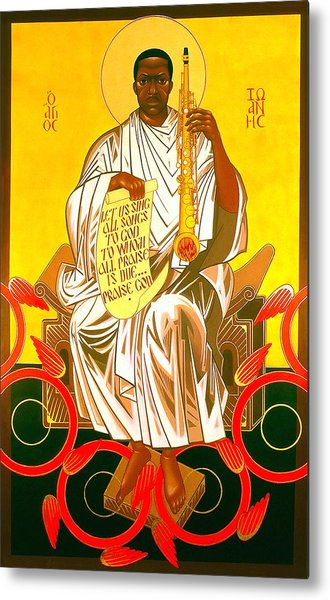 Saint John Coltrane Enthroned Metal Print