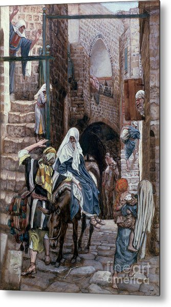Saint Joseph Seeks Lodging In Bethlehem Metal Print