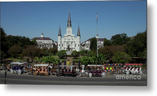 Saint Lewis Cathedral French Quarter New Orleans, La Metal Print