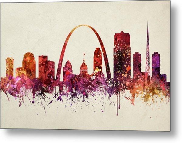 Saint Louis Cityscape 09 Metal Print