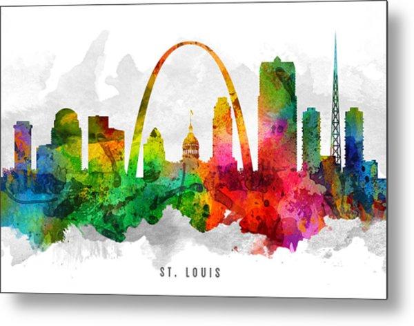 Saint Louis Missouri Cityscape 12 Metal Print