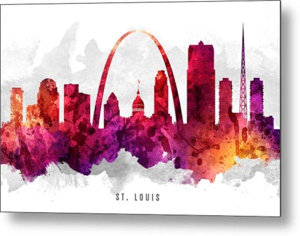 Saint Louis Missouri Cityscape 14 Metal Print