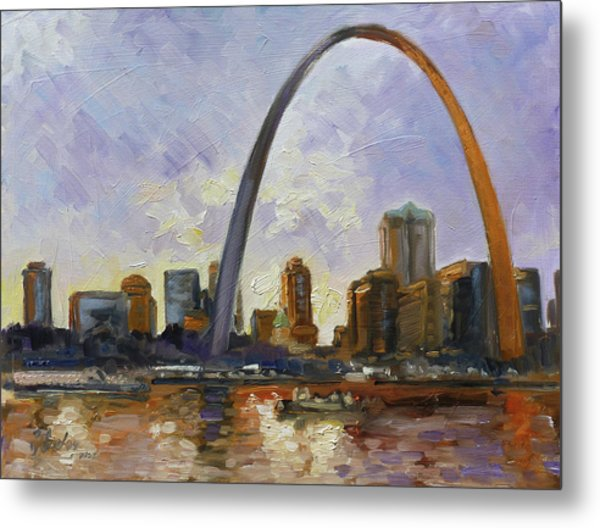 Saint Louis Skyline 3 Metal Print