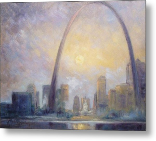 Saint Louis Skyline - Frosty Day Metal Print