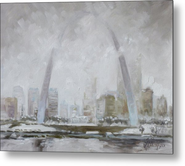Saint Louis Winter Day Metal Print