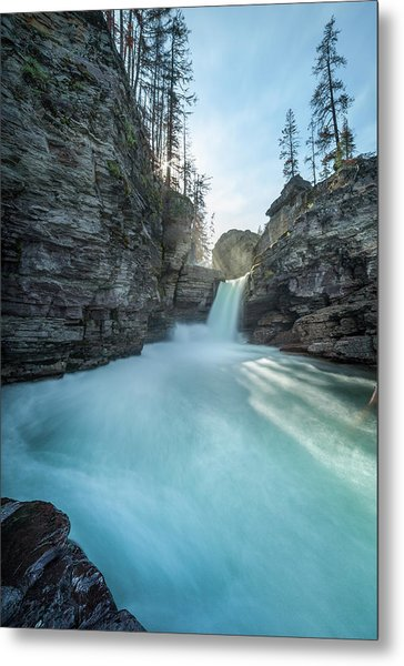 Saint Mary Falls // Glacier National Park  Metal Print
