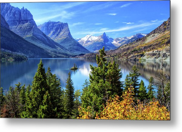 Saint Mary Lake In Glacier National Park Metal Print