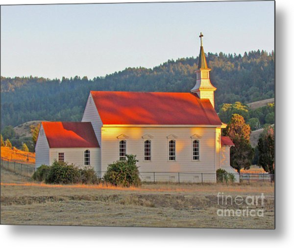 St. Mary's Church At Sunset Metal Print