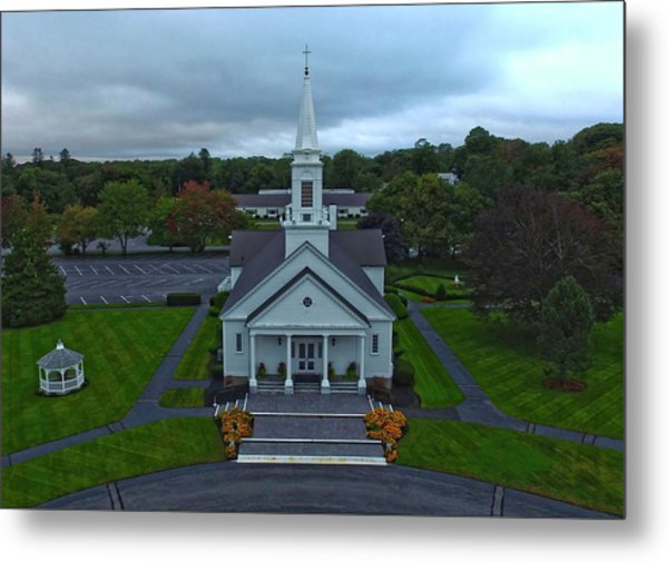 Saint Mary's Church From Above Metal Print