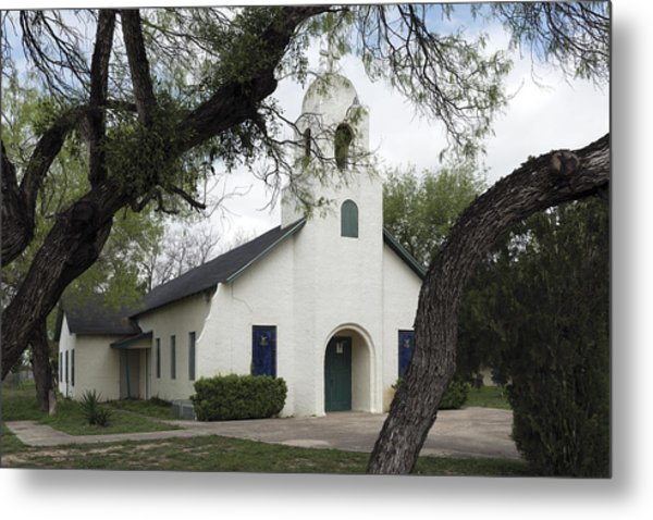 Saint Miguel Archangel Catholic Church In Little Los Ebanos Metal Print