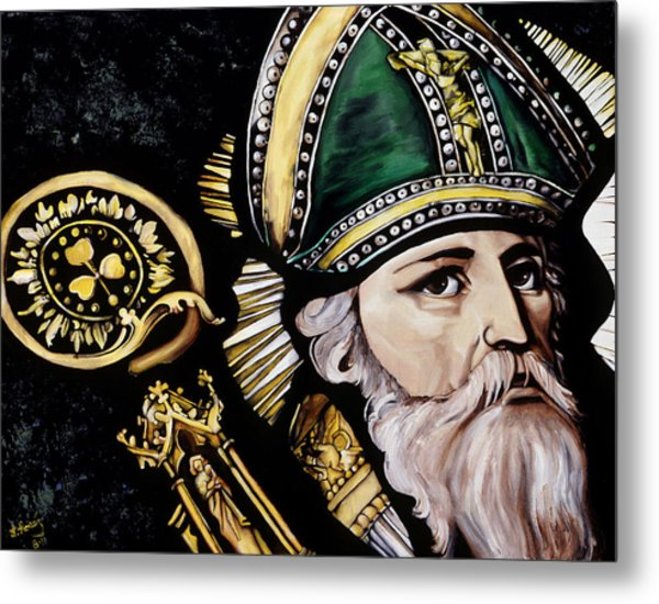 Saint Patrick Metal Print by Leeann Stumpf