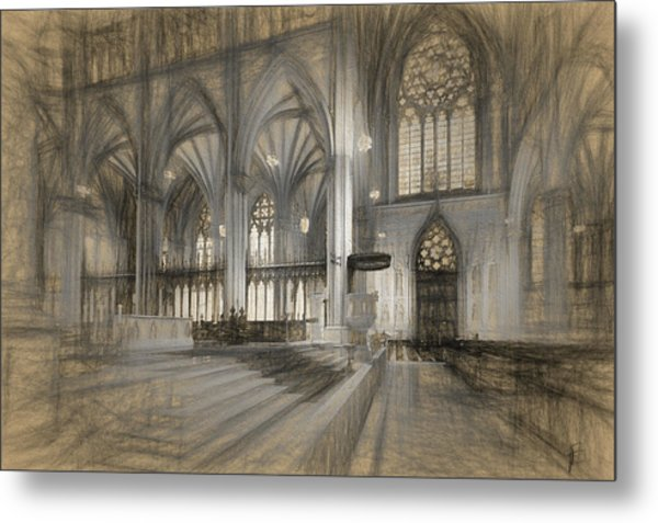 Saint Patrick's Cathedral In New York City Metal Print