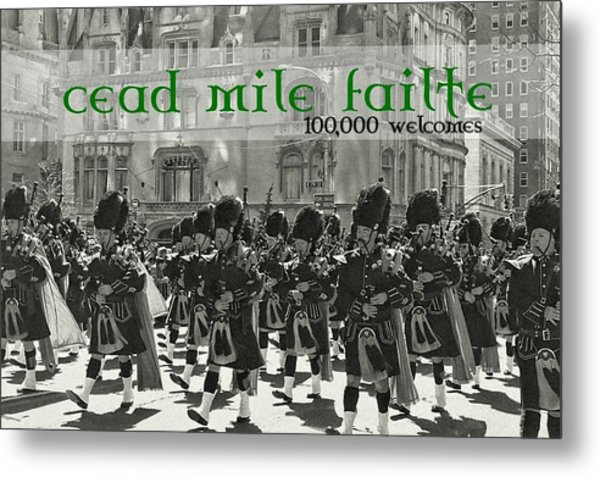 Saint Patricks Day Quote Metal Print by JAMART Photography