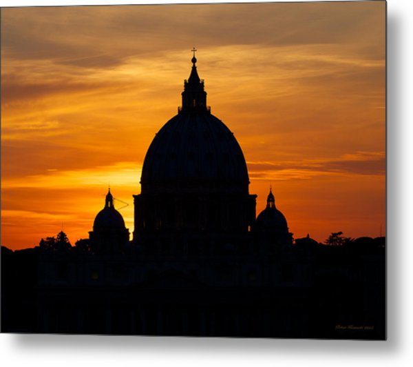 Saint Peters Sunset Metal Print