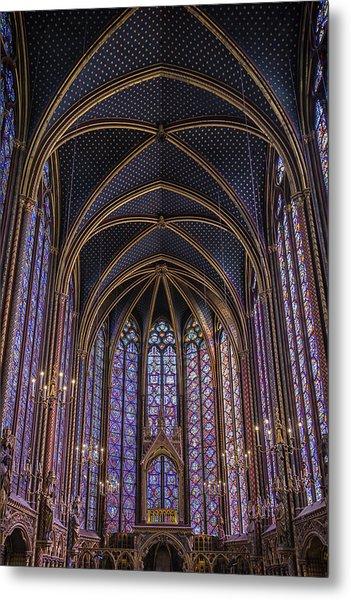 Sainte Chapelle Stained Glass Paris Metal Print