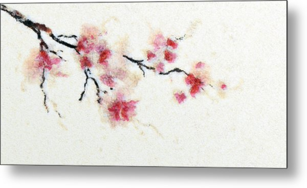 Sakura Branch Metal Print