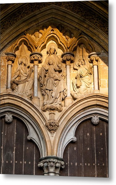 Salisbury Cathedral Doors Metal Print