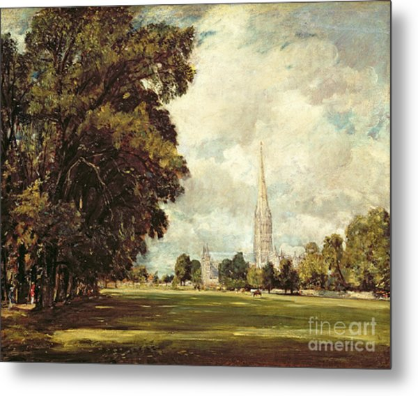 Salisbury Cathedral From Lower Marsh Close Metal Print