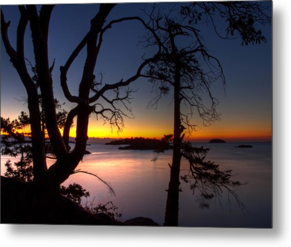 Salish Sunrise Metal Print