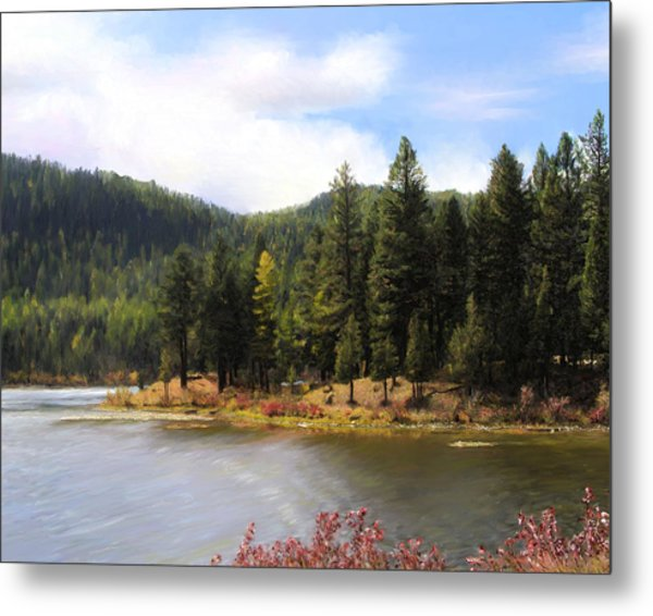 Salmon Lake Montana Metal Print