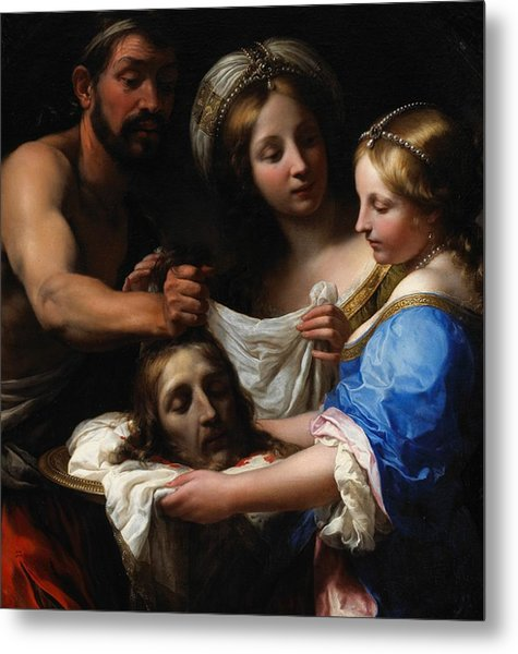 Salome With The Head Of Saint John The Baptist Metal Print