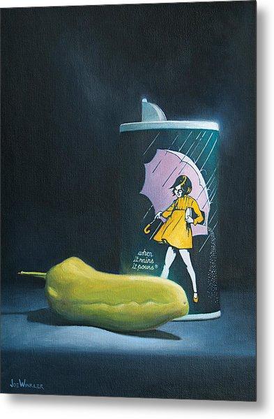Metal Print featuring the painting Salt And Pepper by Joe Winkler