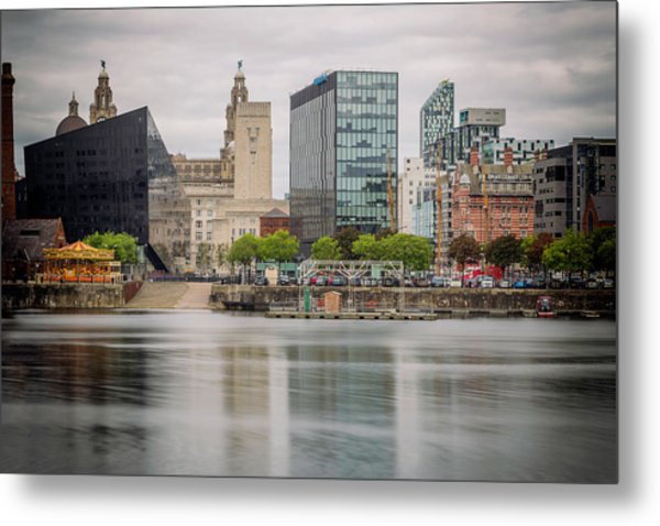 Salt Dock - Liverpool Skyline Metal Print