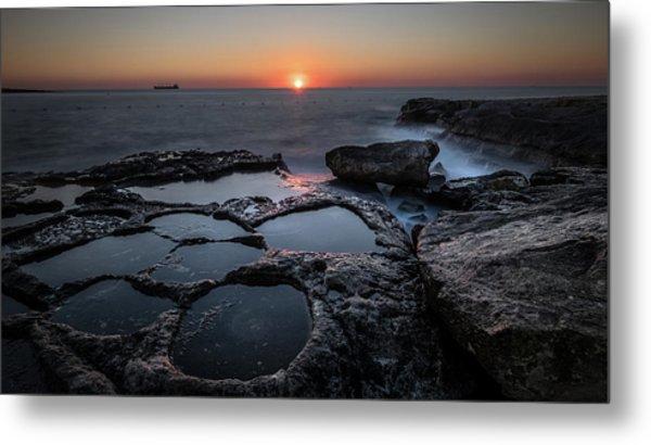 Salt Flats - Marsaskala, Malta - Seascape Photography Metal Print by Giuseppe Milo