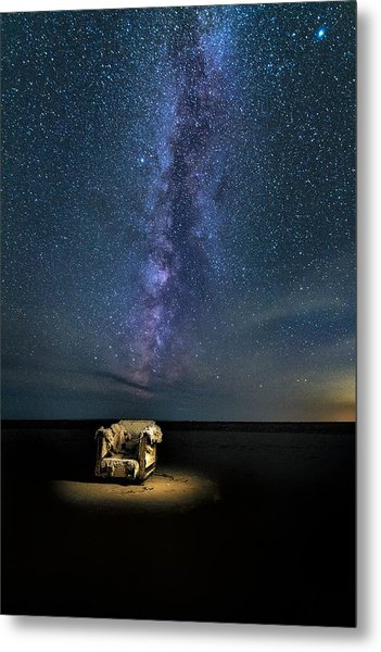 Salt Flats Milky Way Chair Metal Print
