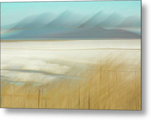 Salt Lake Salt  Metal Print