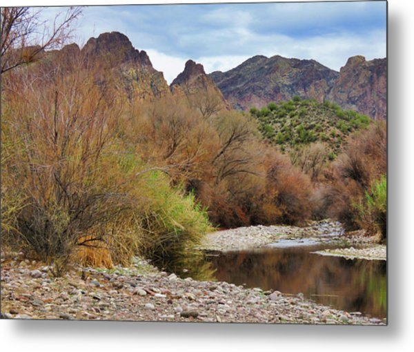 Salt River Pebble Beach Metal Print