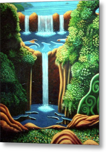 Saltwater Falls 3 Metal Print by Barbara Stirrup