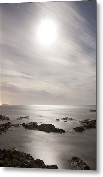 Saltwater Moon - Luna Salada Metal Print