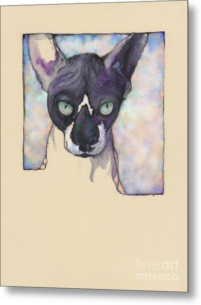 Sam The Sphynx Metal Print