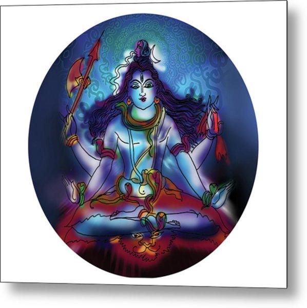 Samadhi Shiva Metal Print