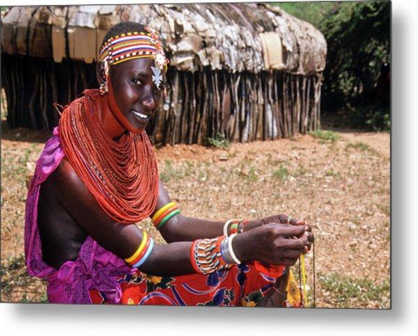 Samburu Beauty Metal Print