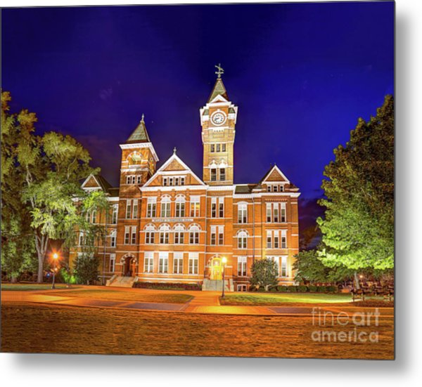 Samford Hall At Night Metal Print