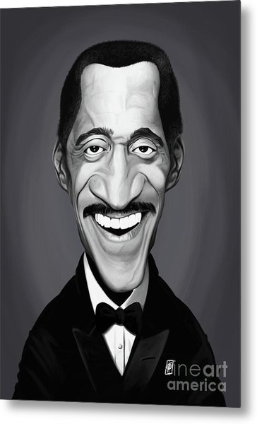 Metal Print featuring the digital art Celebrity Sunday - Sammy Davis Jnr by Rob Snow
