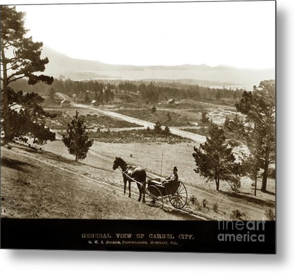 Samuel J. Duckworth Pauses To Look Upon What Would Become Carmel 1890 Metal Print