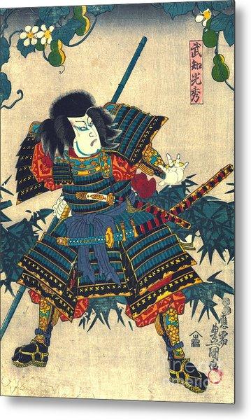 Samurai Hashiba Hisakichi 1860 Metal Print