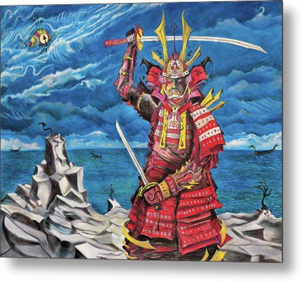 Samurai Sin-mint Metal Print