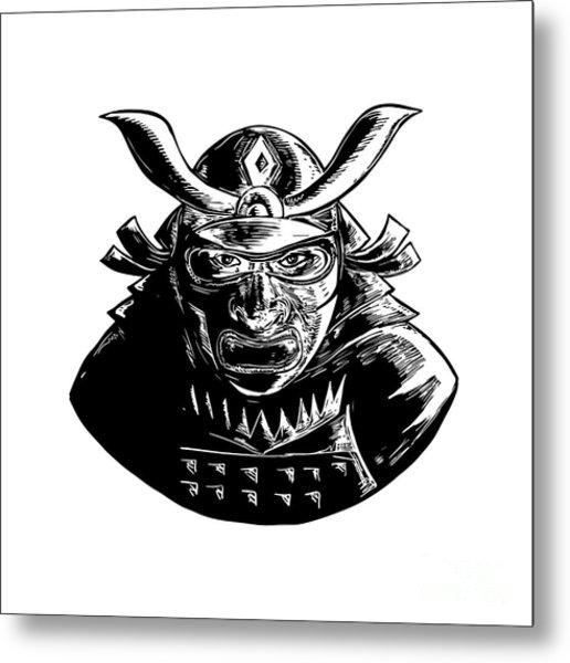 Samurai Helmet Metal Prints And Samurai Helmet Metal Art