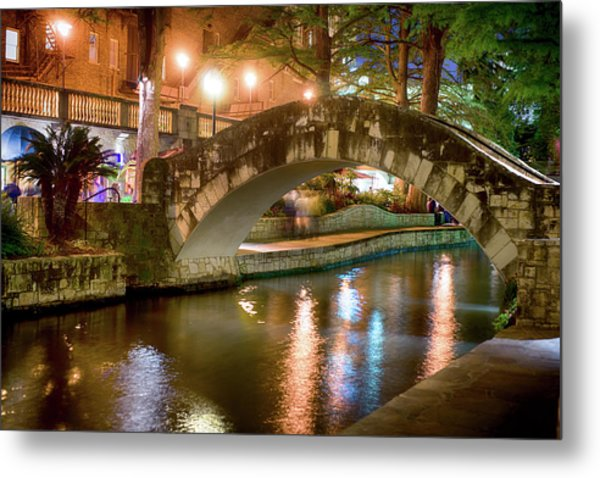 San Antonio River Walk V1 Metal Print