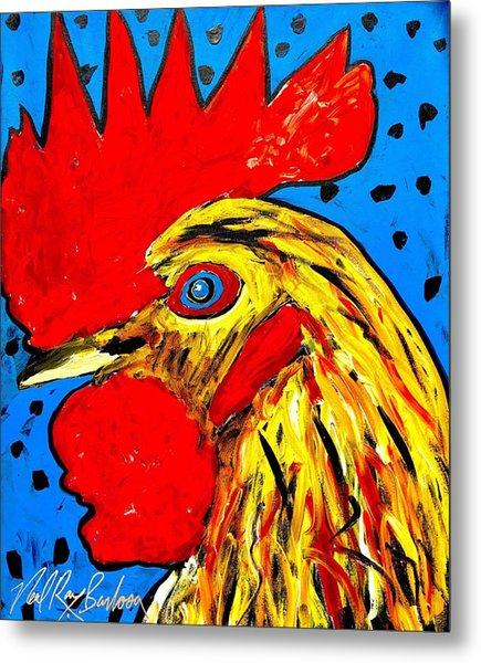 San Antonio Rooster Metal Print