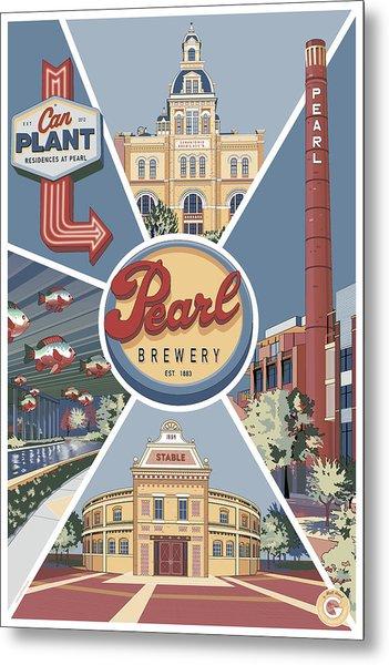 San Antonio's Pearl Metal Print
