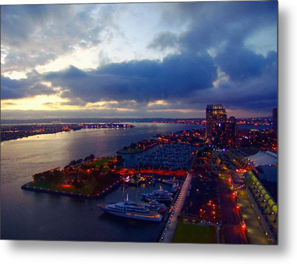 San Diego By Night Metal Print