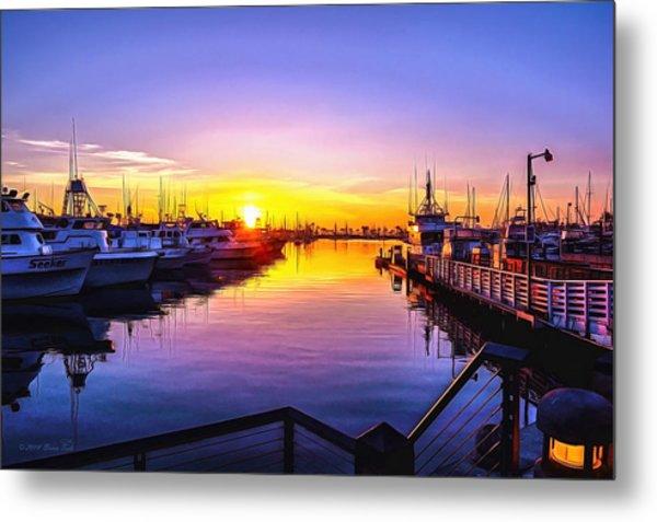 San Diego Harbor Sunrise Metal Print